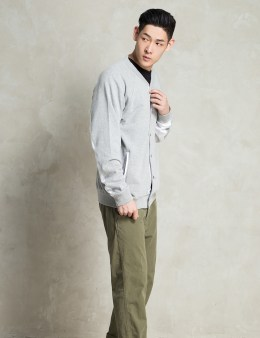 Stussy Grey Heather French Terry Varsity Picture
