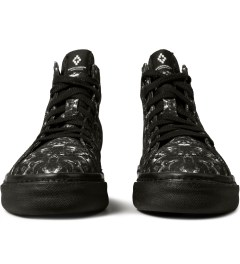 Marcelo Burlon Black Snake Print Allover Hi Top Sneakers Picutre