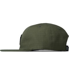 Raised by Wolves Army Green Varsity Circle Polo Cap Model Picutre