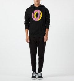 Odd Future Black Single Donut Hoodie Model Picture