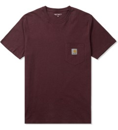 Carhartt WORK IN PROGRESS Bordeaux Heather S/S Pocket T-Shirt Picutre