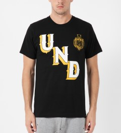 Undefeated Black UNDFTD Crest T-Shirt Model Picture