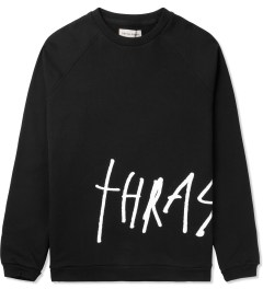 Libertine-Libertine Black/White Grill Thrasher Crewneck Sweater Picutre