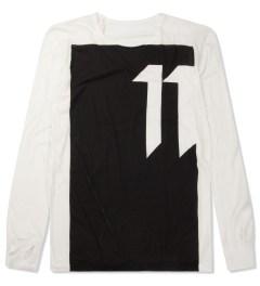 11 By Boris Bidjan Saberi White LS-1 T-Shirt Picture