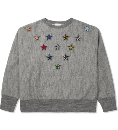 FACETASM Heather Grey Multi Star XXL Sweatshirt Picture