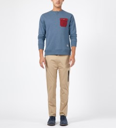 Penfield Petrol Melange Coalmont Crewneck Sweater Model Picture