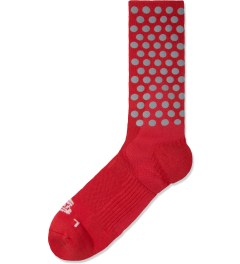 ICNY Red Half Calf Original Dot Socks Picture
