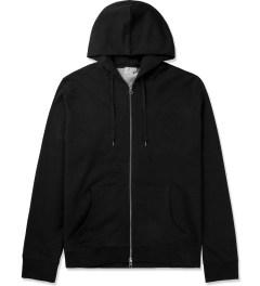 SUNSPEL Black Zip Front Hoodie Picutre