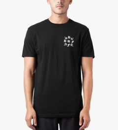 HUF Black Crossed S/S T-Shirt Model Picutre