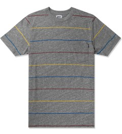 ONLY Heather Grey Primary Stripes Pocket T-Shirt Picture