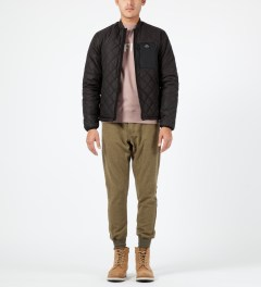 Penfield Black Kasota Quilted Layer Jacket Model Picture