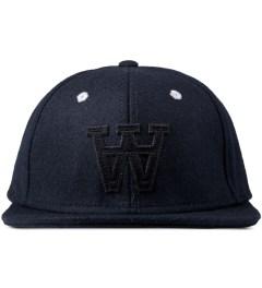 Wood Wood Dark Navy Logo Wool Cap Picture