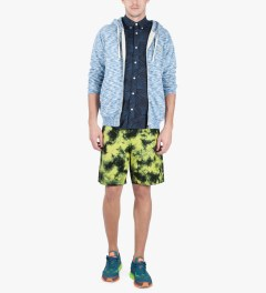 Lightning Bolt Sunny Lime Pelican II Tie-dye Boardshorts Model Picture