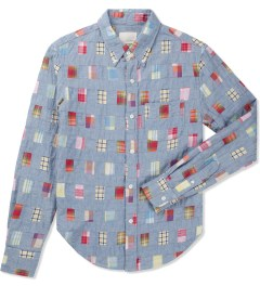 Band of Outsiders Multicolor Patchwork LS Button Down Shirt Picture