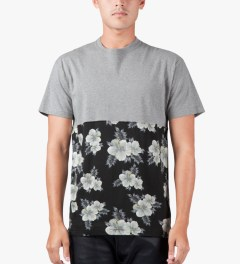 10.Deep Heather Grey Raise Up Split T-Shirt Model Picture