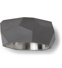 22DesignStudio Black Concrete Rock Ring Picture