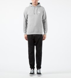 Stussy Heather Grey Basic Logo Hoodie Model Picture