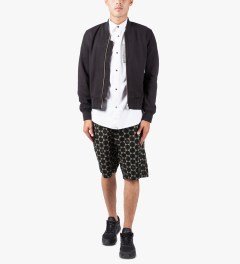JohnUNDERCOVER Black/Charcoal Geometric Shorts Model Picture