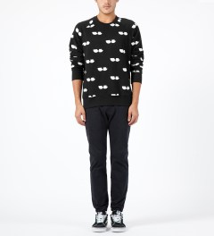 Lazy Oaf Black Eye Socket Sweater Model Picture