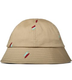 Publish Tan Oliver Quill Shadow Embroidery Bucket Hat Picutre