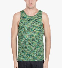 Lightning Bolt Ice Green Mirror Essential Pocket Tank Top Model Picture