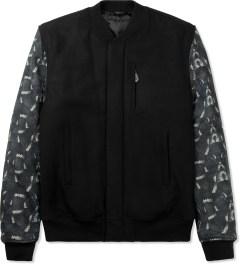 Marcelo Burlon Black Snake Print Bomber Jacket Picutre