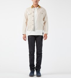 Deluxe White Upsetter Denim Jacket Model Picture