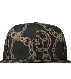 Stussy Black Bambooze Strapback Cap Picutre