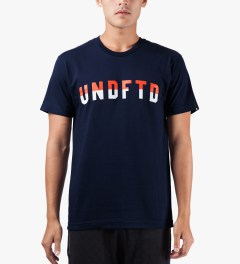 Undefeated Navy Two Tone T-Shirt Model Picture