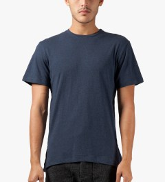 CLOT Navy Fish Tail Layer T-Shirt Model Picutre