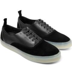 SILENT Damir Doma Black Falcata Shoes Model Picture