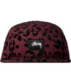 Stussy Burgundy Flocked Leopard Camp Cap Picture