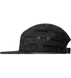 The Quiet Life Black Rope 5 Panel Cap Model Picture