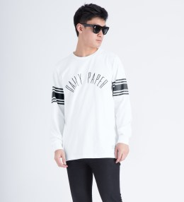 Daily Paper White/Black Script L/S T-Shirt Picture