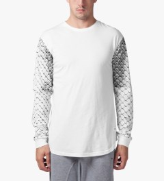 Stampd White Snake Skin L/S T-Shirt Model Picture