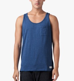 SATURDAYS Surf NYC Blue Rosen Bouncle Tank Top Model Picture