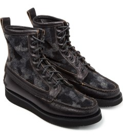 Yuketen Black Camo Maine Guide Boots Model Picture