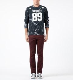 Carhartt WORK IN PROGRESS Black/White Marble Print Fan Sweater Model Picture
