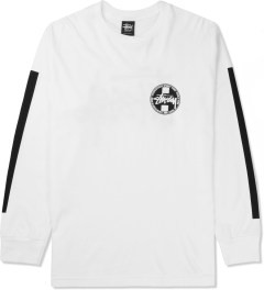 Stussy White Worldwide L/S Dot T-Shirt Picture