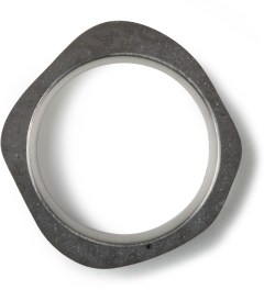22DesignStudio Black Concrete Round Thin Ring Model Picture
