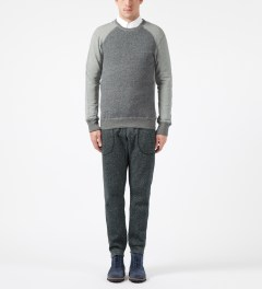 Reigning Champ Grey RC-3269 Hybrid L/S Crewneck Sweater Model Picture