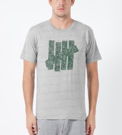 Undefeated Heather Grey Ink Strike T-Shirt Model Picture