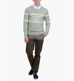 BWGH Green Bonjour Brooklyn Sweater Model Picutre