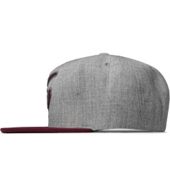 Hall of Fame Burgundy Champion Rubber Snapback Cap Model Picture