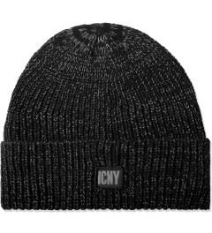 ICNY Black Rain Cuff Reflective Beanie Picture