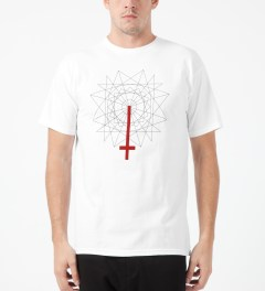 Black Scale White Rose Cross T-Shirt Model Picture