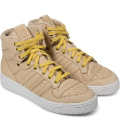 adidas Originals adidas Originals by NIGO St Pale Nude/St Pale Nude/White Rivalry Hi Top Shoes Model Picture