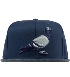Staple Navy Louis Pigeon Mitchell & Ness Snapback Cap Picutre
