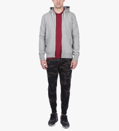 Reigning Champ Heather Grey RC-3205-1 Midweight Twill Fr Terry L/S Full Zip Hoodie Model Picture