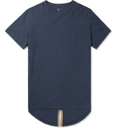CLOT Navy Fish Tail Leather T-Shirt Picture